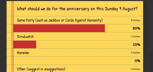 The Results Are in, Join Us Tommorow!