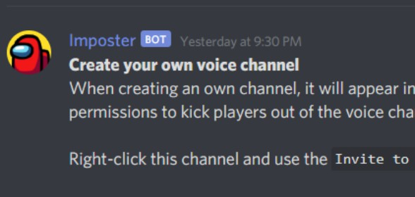 Create your own voice channels!