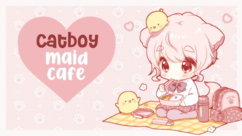 Catboy Maid Cafe Small Banner