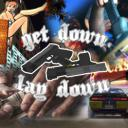 Get Down Or Lay Down Small Banner