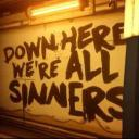 Down here we are all sinners Small Banner