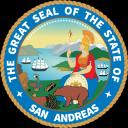 San Andreas, United States. Small Banner
