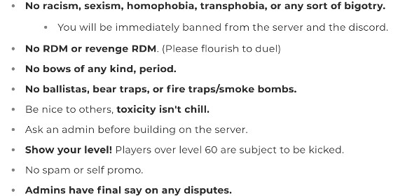 Server Rules and Welcome!