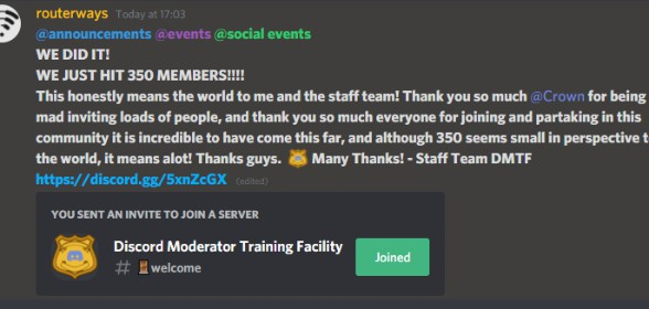 We just hit 350 members Thank you so much!
