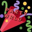 PARTY'S WRLD Small Banner