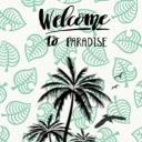 Paradise Crossing Small Banner