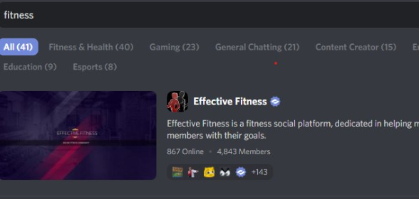 Officially the best Fitness Server