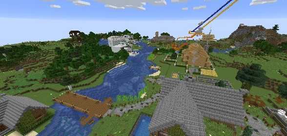 Residential area with Roller Coaster!