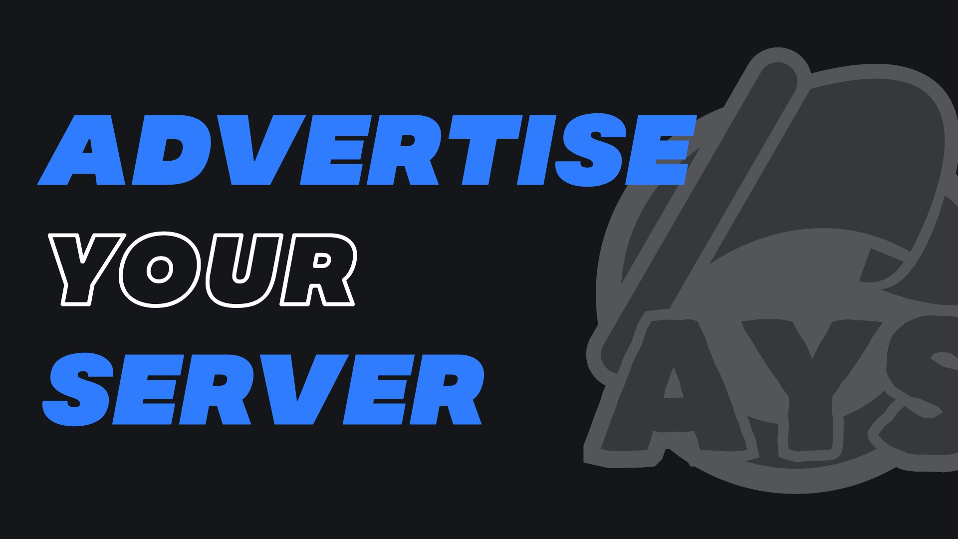 Advertise Your Server Small Banner