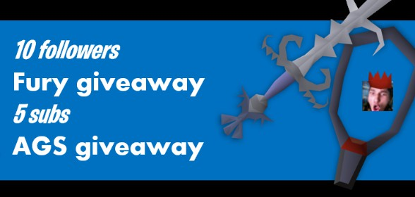 Current stream giveaway: