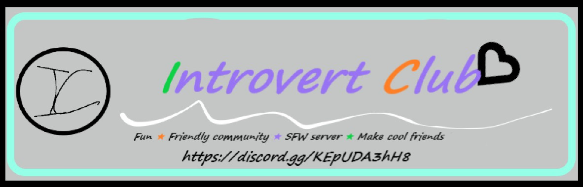 Introvert Club Large Banner