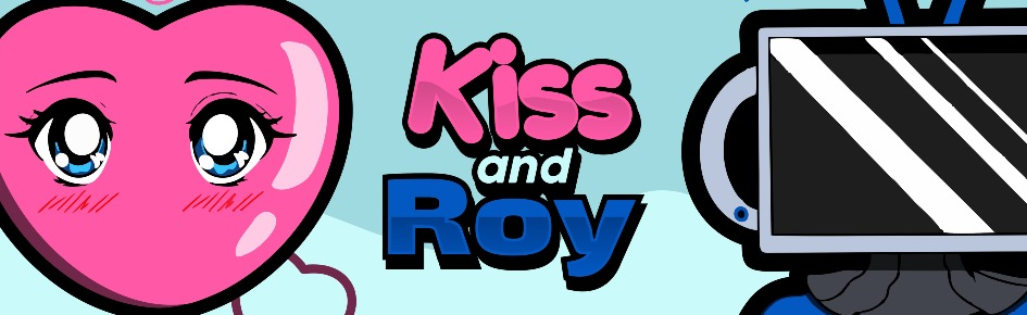Kiss and Roy Large Banner
