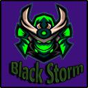 Black Storm Small Banner