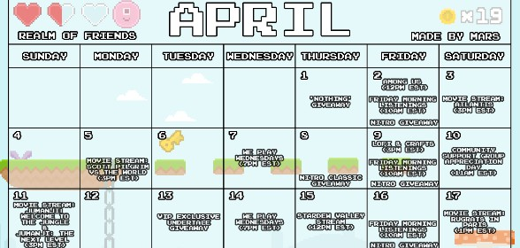 8 Bit April events!