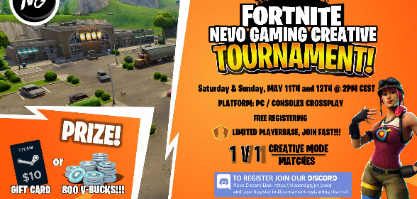Fortnite Tournament on 11th and 12th of May